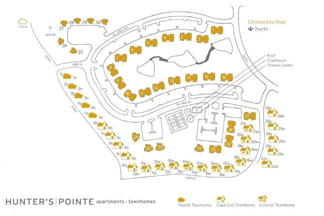 Hunter's Pointe Community Map